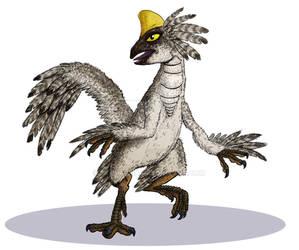 Dinosaur Trading Card Commission - Oviraptor