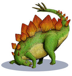 Dinosaur Trading Cards Commission - Stegosaurus