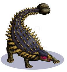 Dinosaur Trading Cards commission - Ankylosaurus