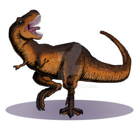 Dinosaur Trading Cards Commission - Tyrannosaurus