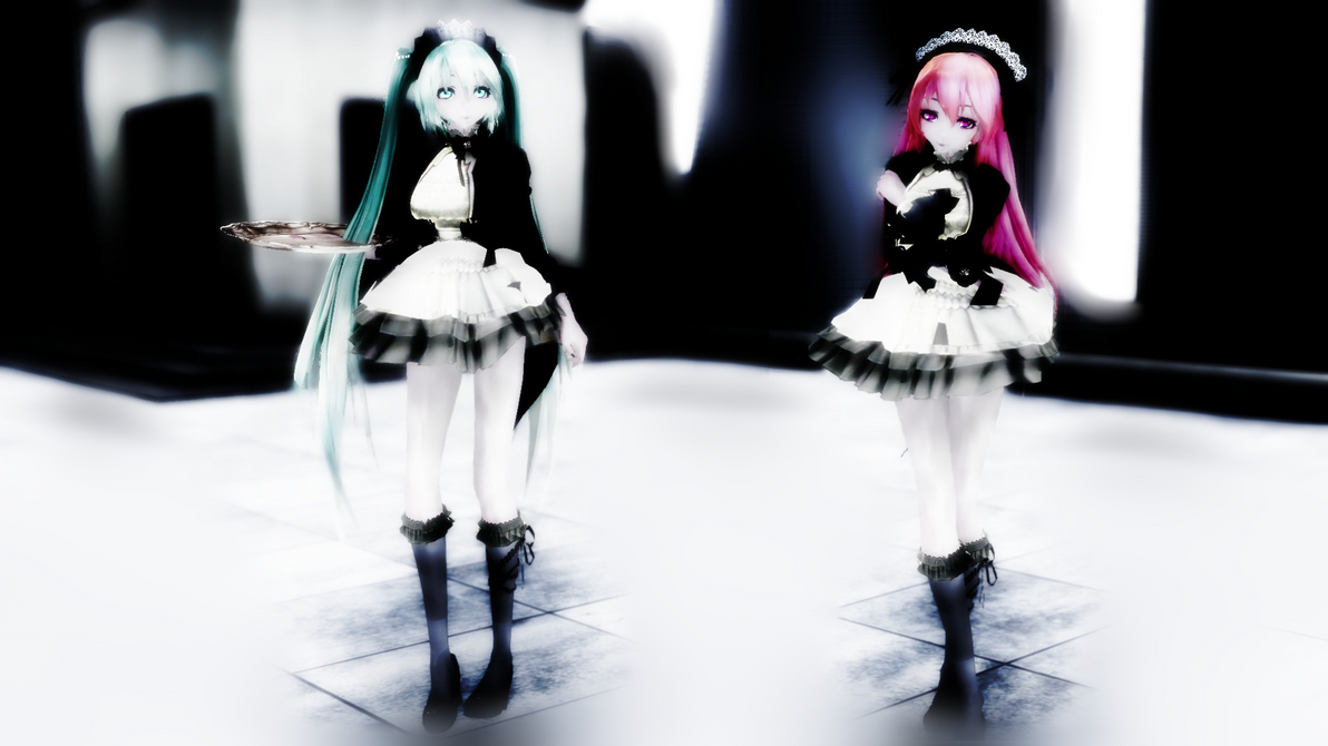 [MMD] TDA Gothic Maid Miku - Luka { DL !!} by Mlle-Emiko