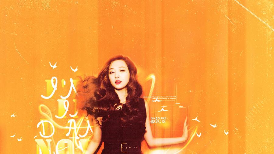 044.Bright Orange Wallpaper