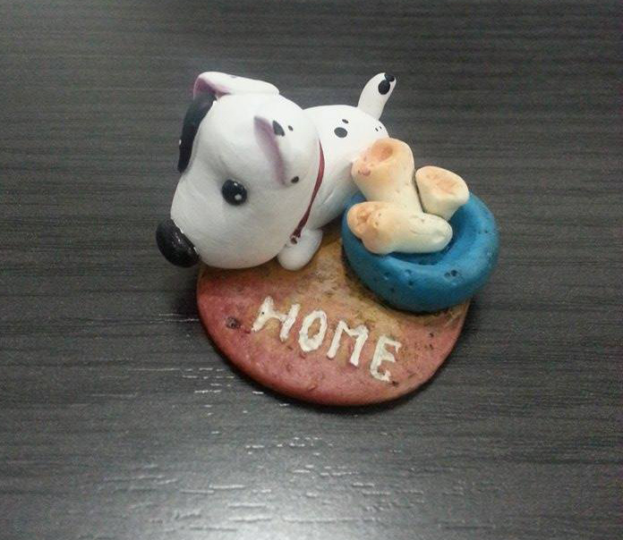 polymer clay puppy by isaac-laforete