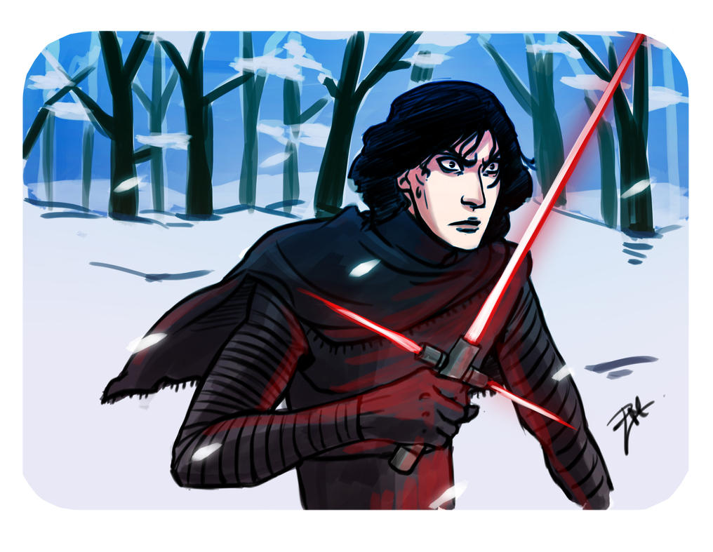 Kylo ren snow by isaac-laforete