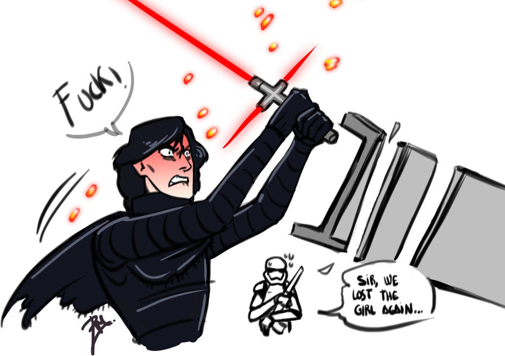 Kylo Ren furious by isaac-laforete