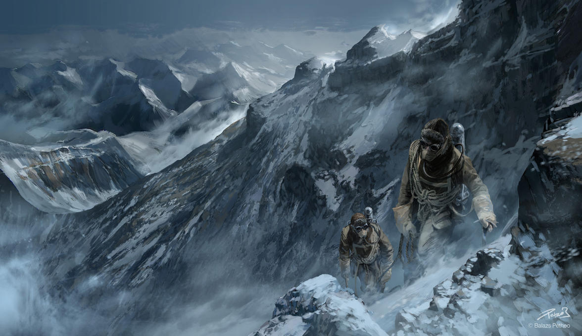 Mallory and Irvine, the Everest pioneers by Balcsika on DeviantArt George Mallory And Andrew Irvine