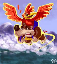 Mach Speed Kazooie by FriendlySheep