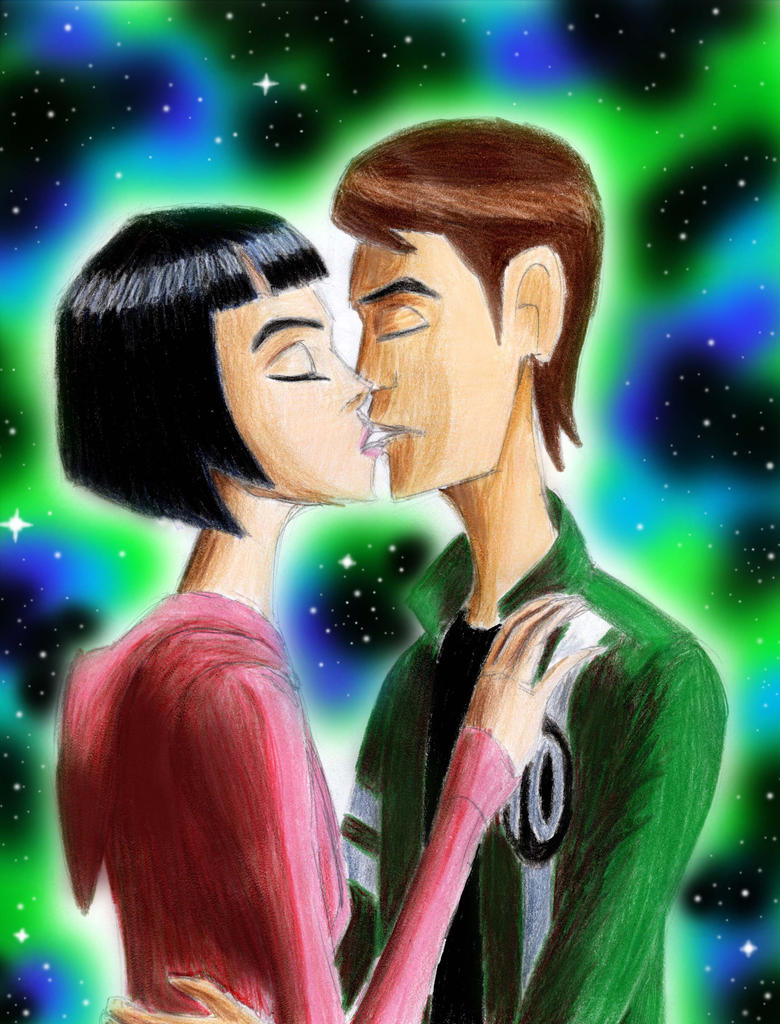 Ben and Julie Kiss by Taipu556