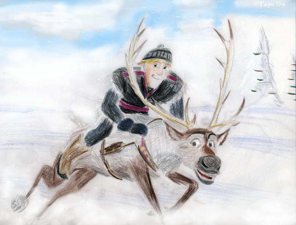 Drawing Of From Frozen Kristoff And Sven: Kristoff And Sven By Taipu556 On DeviantArt