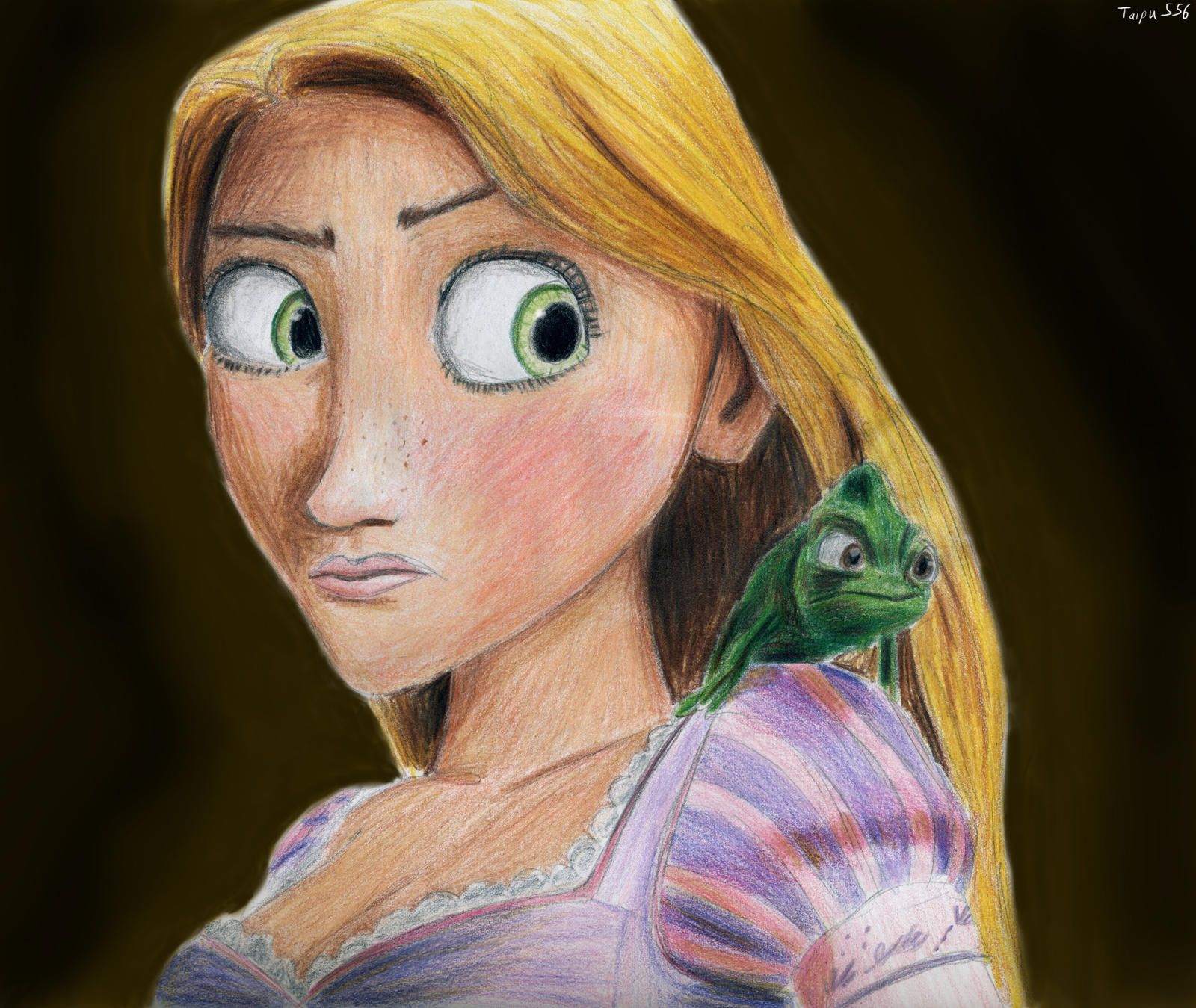 Rapunzel and Pascal by Taipu556 on DeviantArt