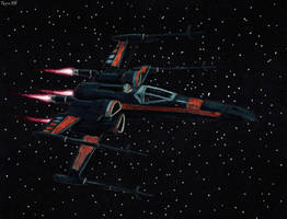 Poe Dameron X-Wing fighter by Taipu556
