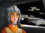 Ezra Piloting a Y-Wing