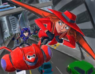 Big Hero 6 Chasing Carmen Sandiego by Taipu556