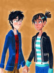 Hiro Hamada and Megan Cruz by Taipu556