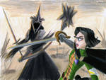 Cassandra vs the Witch-King by Taipu556