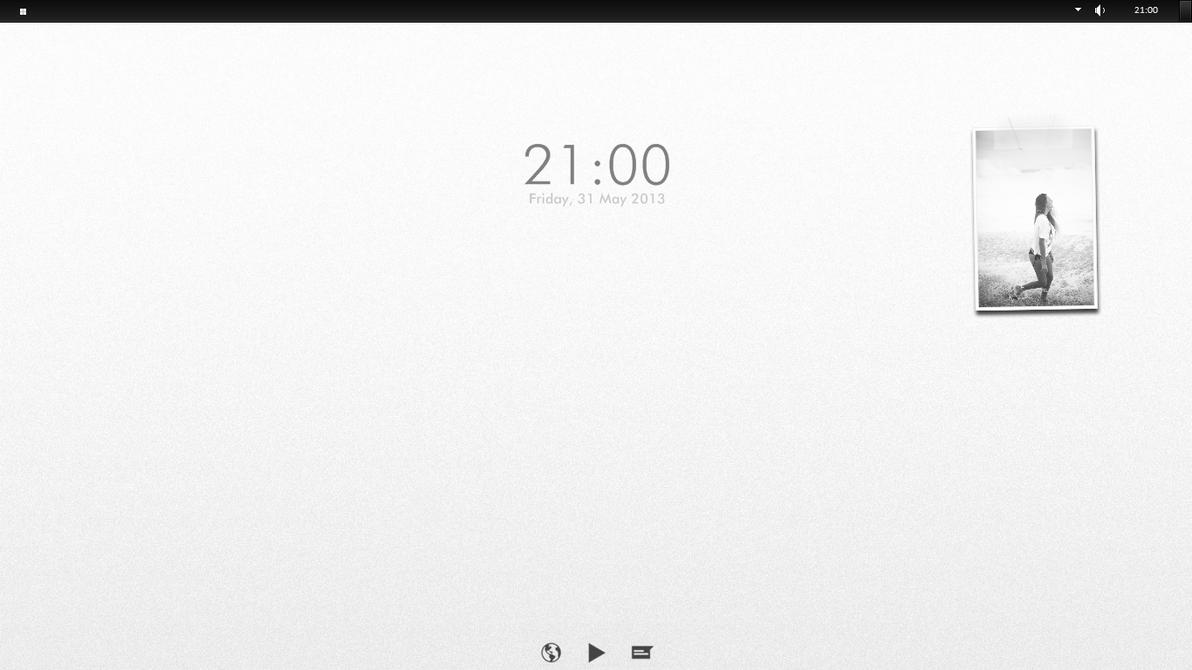 Kuroi - minimal desktop by devyyard