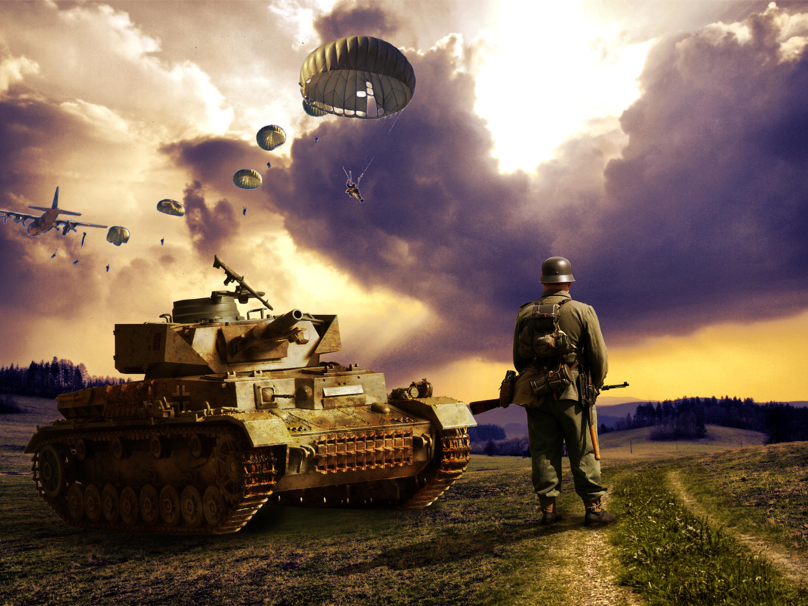 World War  wallpaper by texler