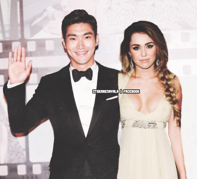 Choi SiWon and Miley Cyrus by VasHappeninNina on DeviantArt