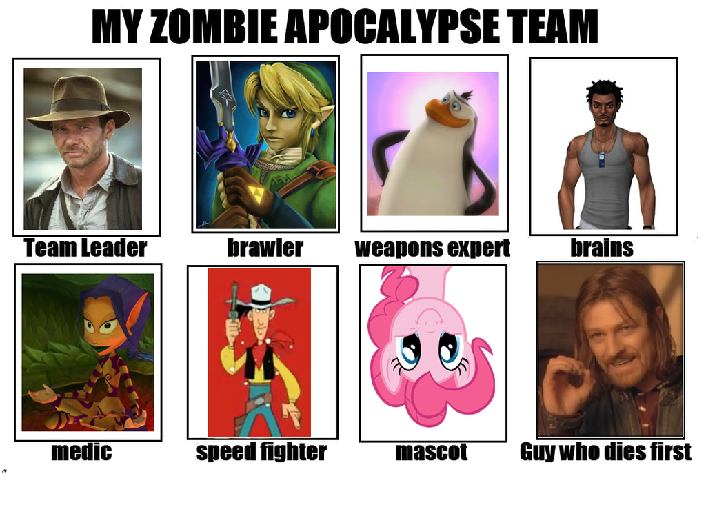 how to create a zombie apocalypse team