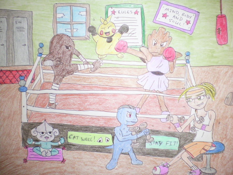 Pokemon Boxing match by AnaturalBeauty