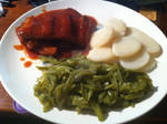 Ribs, potatoes and green beans by AnaturalBeauty