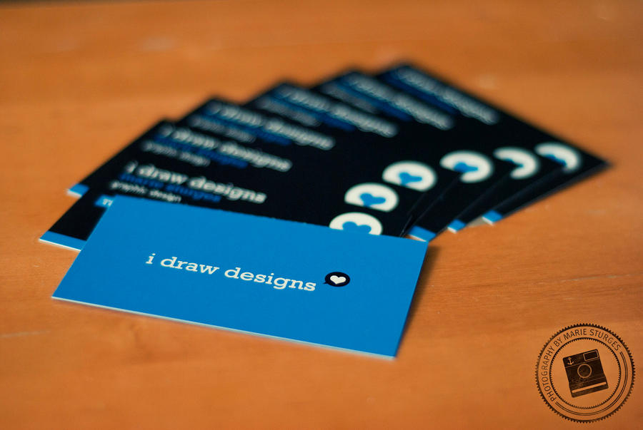I Draw Designs Business Card by mariesturges