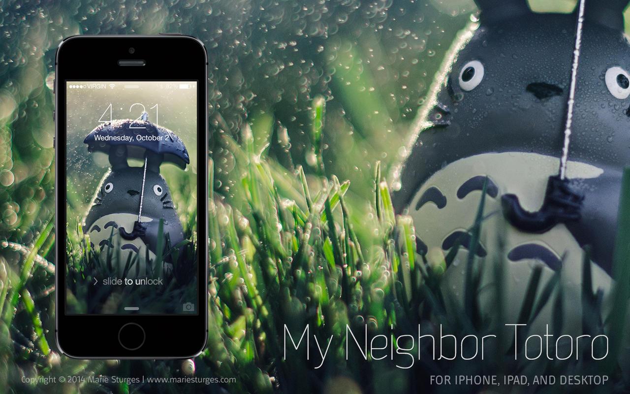 Totoro wallpaper for iphone ipad and desktop by - Totoro wallpaper iphone ...