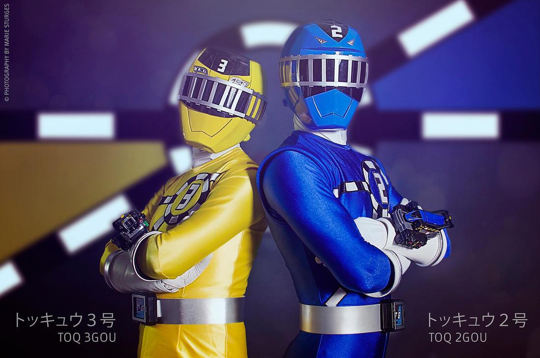 ToQ 3gou and ToQ 2gou - Ressha Sentai ToQger by mariesturges