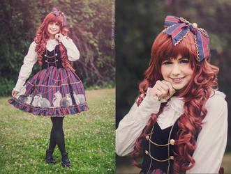 Lolita Fashion - Pumpkin Cat JSK by mariesturges