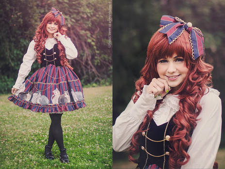 Lolita Fashion - Pumpkin Cat JSK