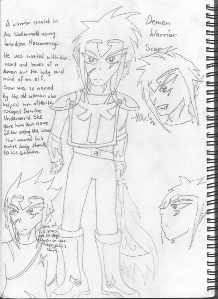 Demon Warrior Scar Concept Art By Nat Grim On Deviantart