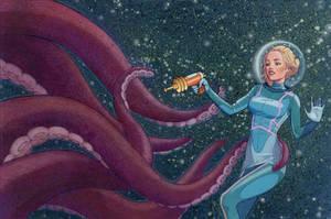 Eek a tentacle monster by ErinSchwaner