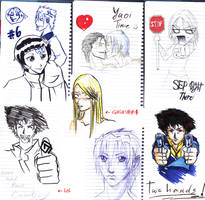 some fast drawings by angel-poloo
