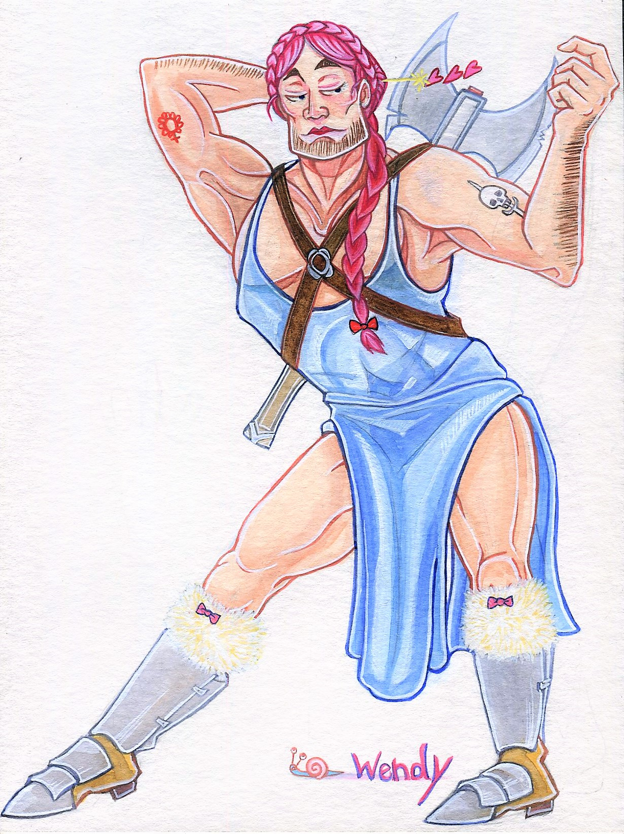 wendy the barbarian by angel-poloo