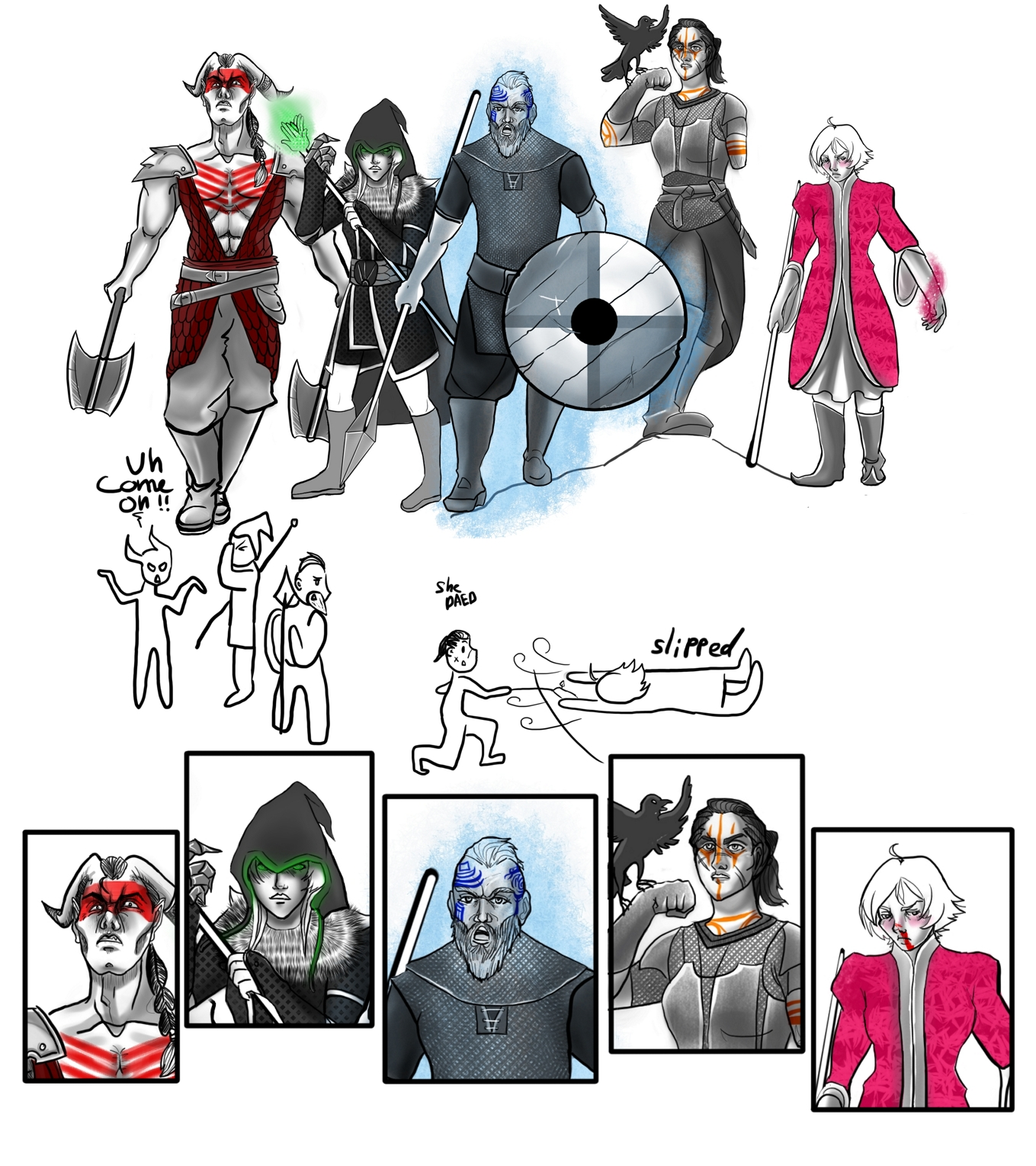 dragon age tabletop party by angel-poloo