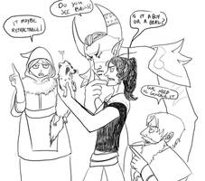 DnD doodles: shapeshifters problems 1 by angel-poloo