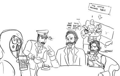DnD doodle: tea aristocrats