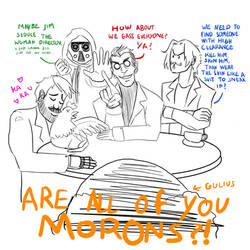 DnD doodle:morons by angel-poloo