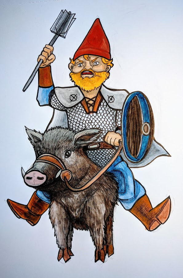DnD doodle: juramaia wild boar by angel-poloo