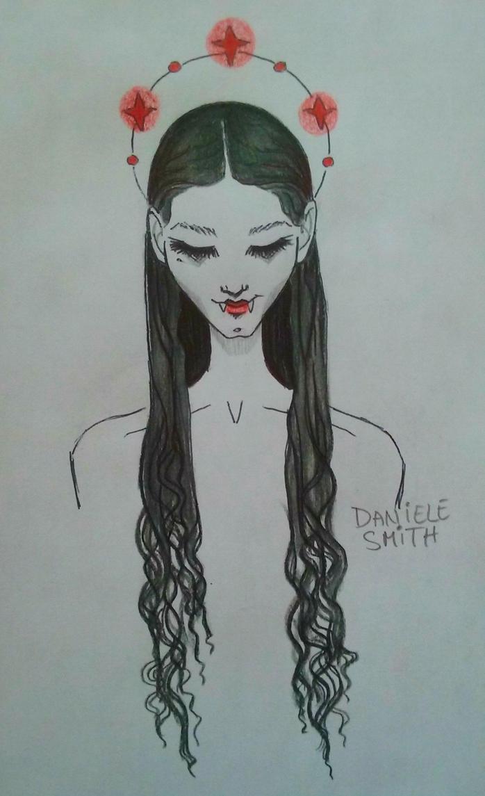 Inktober - Vampire Queen by dannieallie