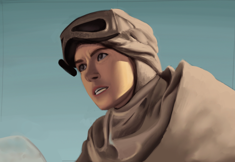 Rey from The Force Awakens by MottledSoul