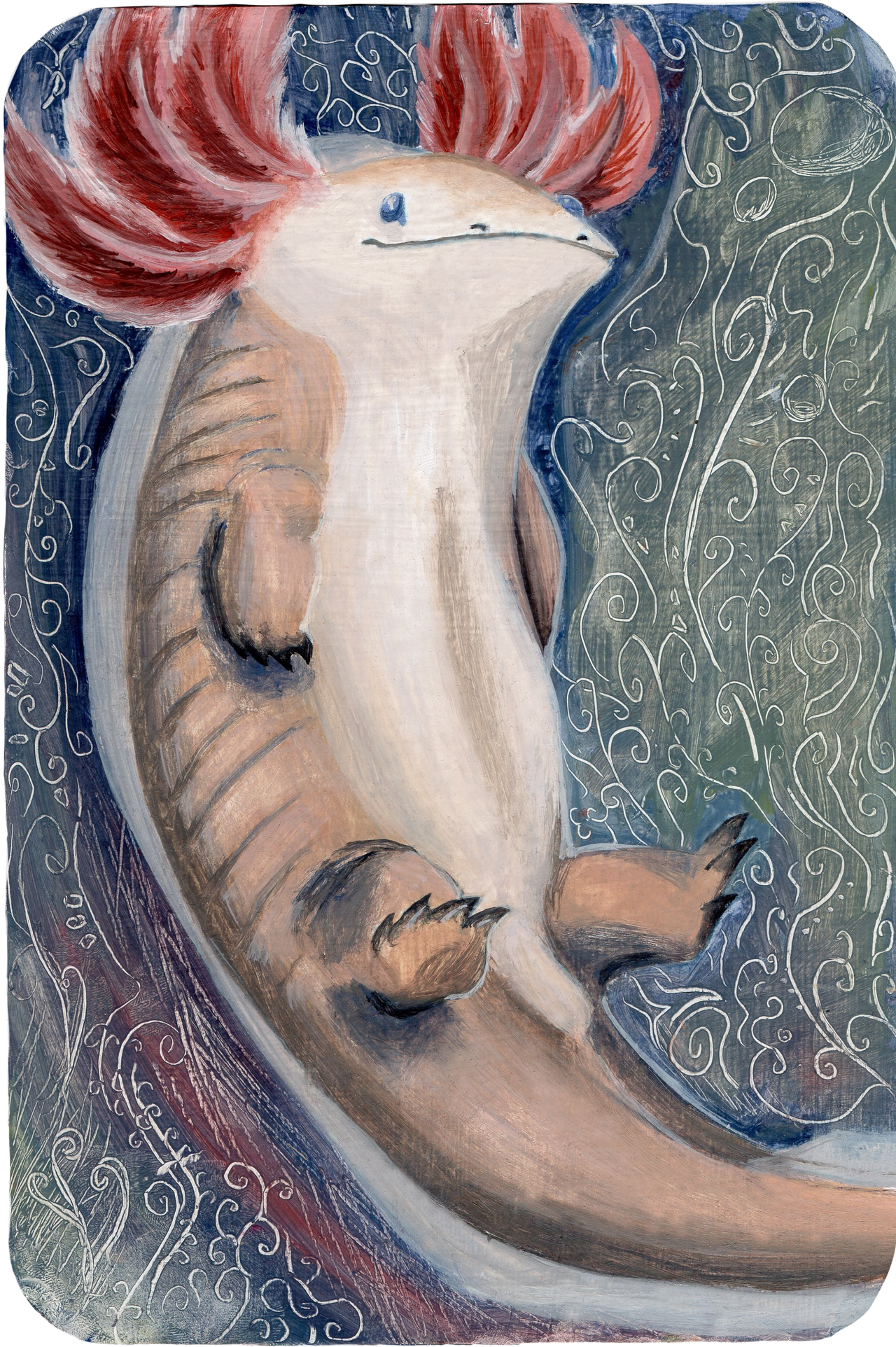 Big Axolotl by ThreeLeaves