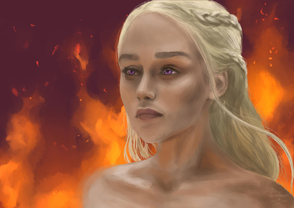 Digital portrait of Daenerys.
