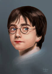 Harry Potter portrait study by ThreeLeaves