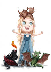 Mother of Dragons by ThreeLeaves