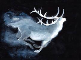 Deer Patronus by ThreeLeaves