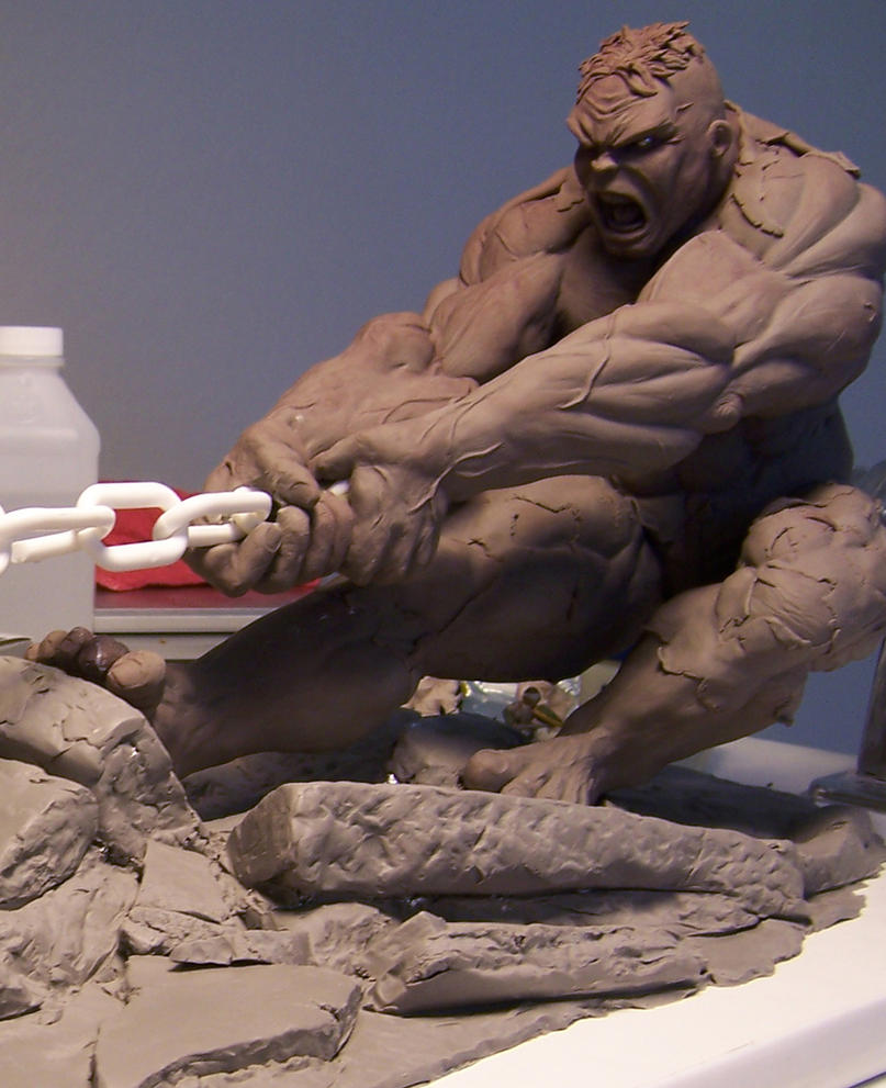 Hulk vs SuperMan by chrisgabrish