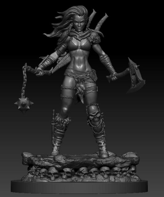Warriorchick 1 1 by chrisgabrish