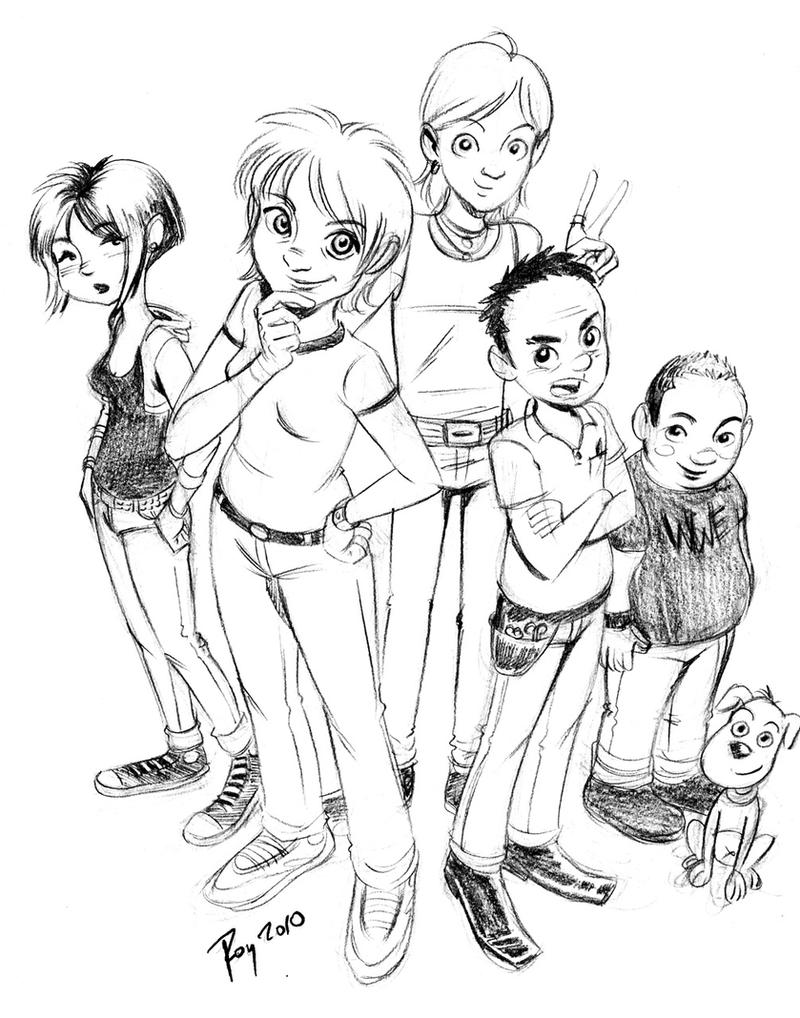 Los Burrones Sketch by cynobi