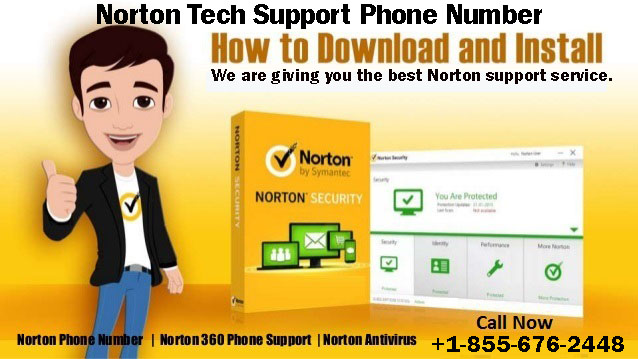 Norton Tech Support Phone Number +1-855-676-2448 by nortontata